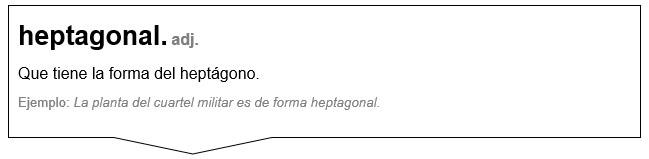 definición de heptagonal